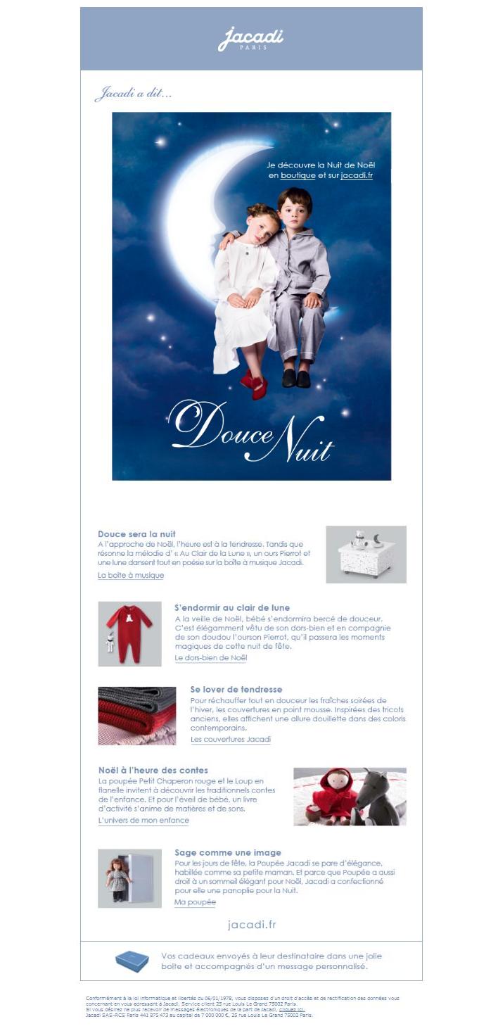 Douce Nuit Jacadi, cadeaux de  Noël 2009