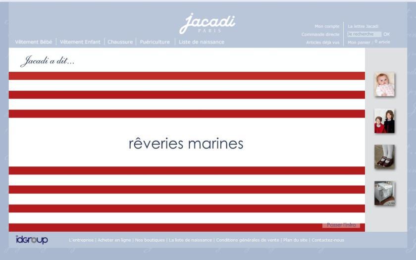 Marinière, Jacadi home page printemps 2010