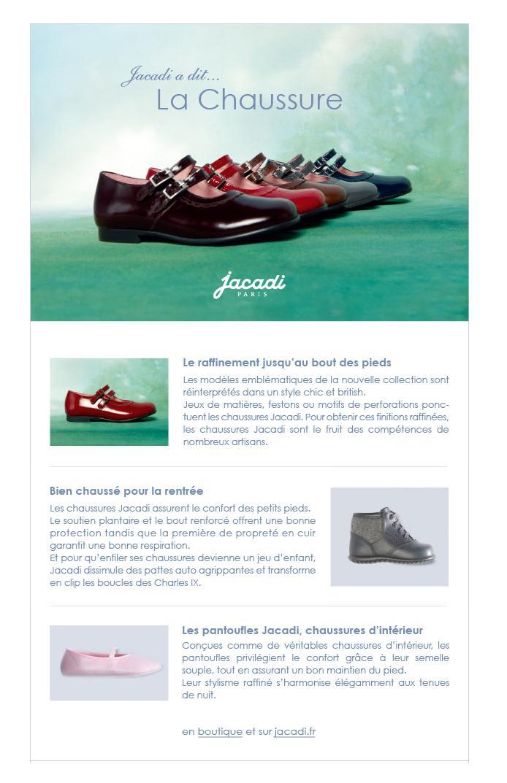 Emailing chaussures Jacadi