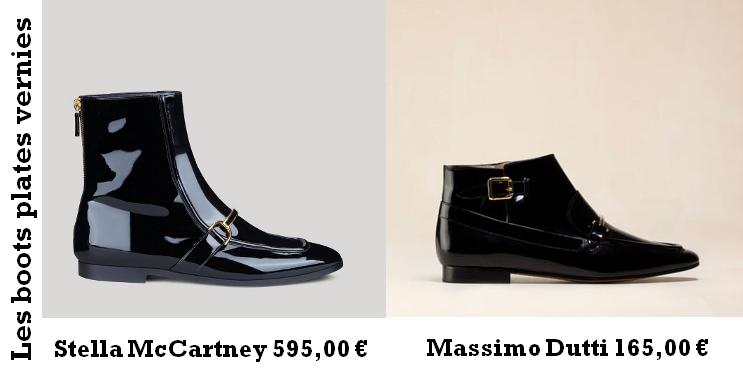 Shopping alternatif : les boots plates Stella McCartney versus Massimo Dutti