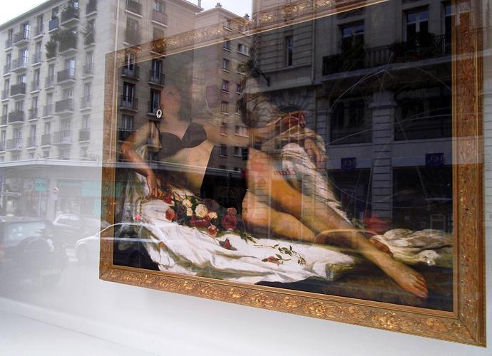 Les Baigneuses de Courbet, vitrines du Bon Marché