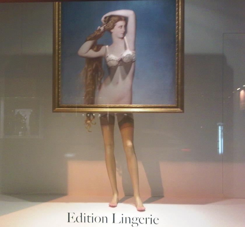 Vitrines Edition Lingerie au Bon Marché : la Naissance de Vénus d'Amaury-Duval © D. R.
