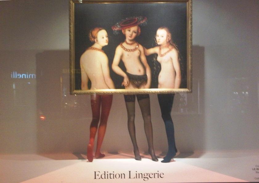 Vitrines Edition Lingerie du Bon Marché : les Trois Grâces