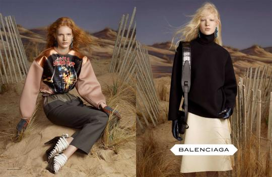 Balenciaga campagne publicitaire automne-hiver 2012-13