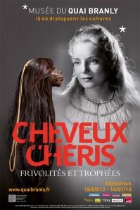 Affiche de l'exposition Cheveux Chéris, frivolités et trophées