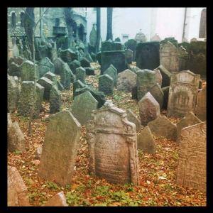 Cimetière juif de l'ancien ghetto de Prague