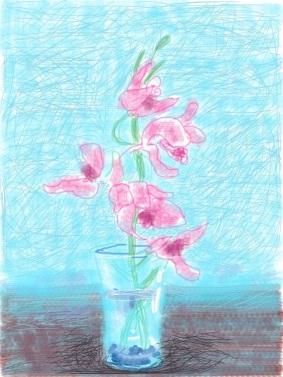 Fleurs fraîches, David Hockney, 2010