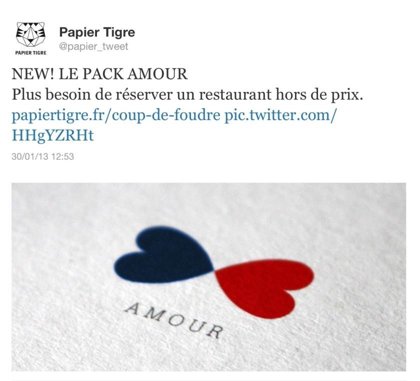 Cadeau Papier Tigre pour la Saint Valentin