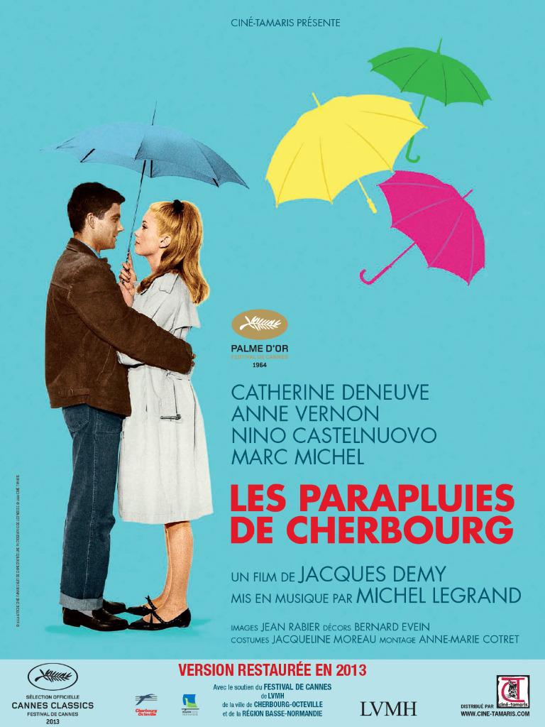 Affiche Les Parapluies de Cherbourg Jacques Demy réédition 2013