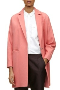 Manteau rose style Carven
