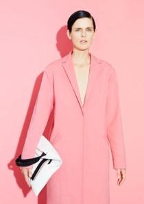 Manteau rose printemps été 2014 esprit Carven
