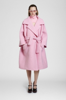 Manteau rose Carven