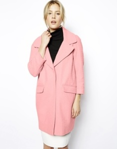 Manteau rose Asos printemps été 2014