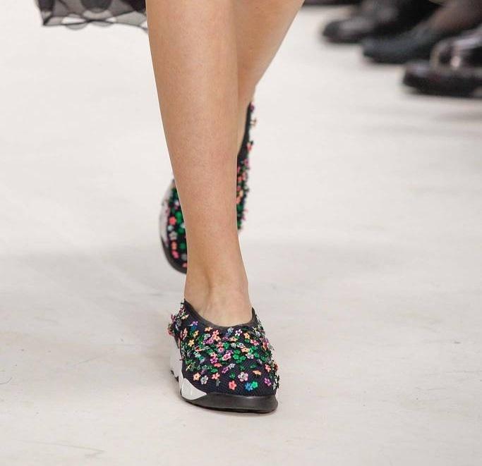 Chaussures sportwear haute couture Dior printemps été 2014