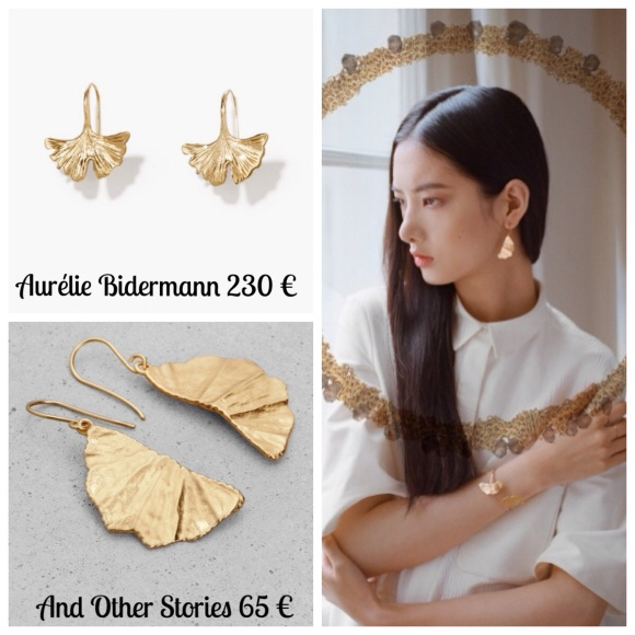 Boucles d'oreilles Aurelie Bidermann et Lara Melchior pour And Other Stories