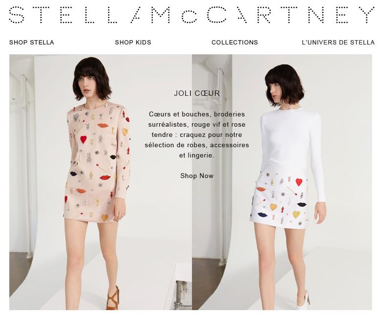 Emailing saint Valentin Stella McCartney
