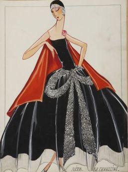 Dessin Maison Lanvin « La Cavallini & Rita », 1925 © Patrimoine Lanvin