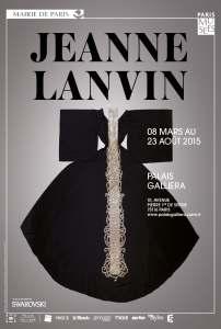 Affiche de l'exposition Jeanne Lanvin au Palais Galliera