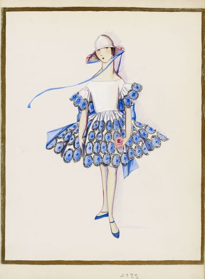 Dessin Maison Lanvin « Les petites filles modèles », 1925