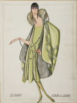 dessin robe lesbos Lanvin