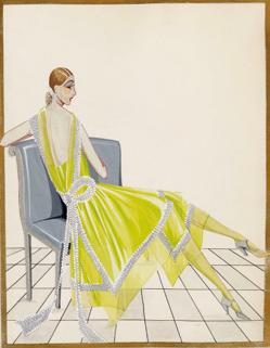 Robe « La Duse », 1925 © Patrimoine Lanvin