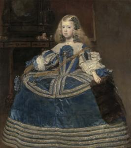 Velázquez, Portrait de l'infante Marguerite en bleu