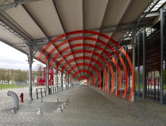 Felice Varini, Arcs de cercle sur diagonale