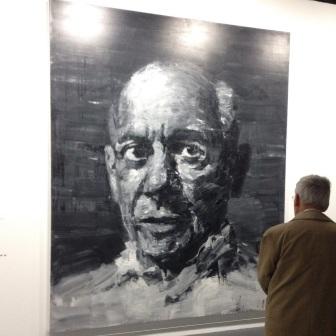 Yan Pei-Ming, portrait de Picasso, 2009