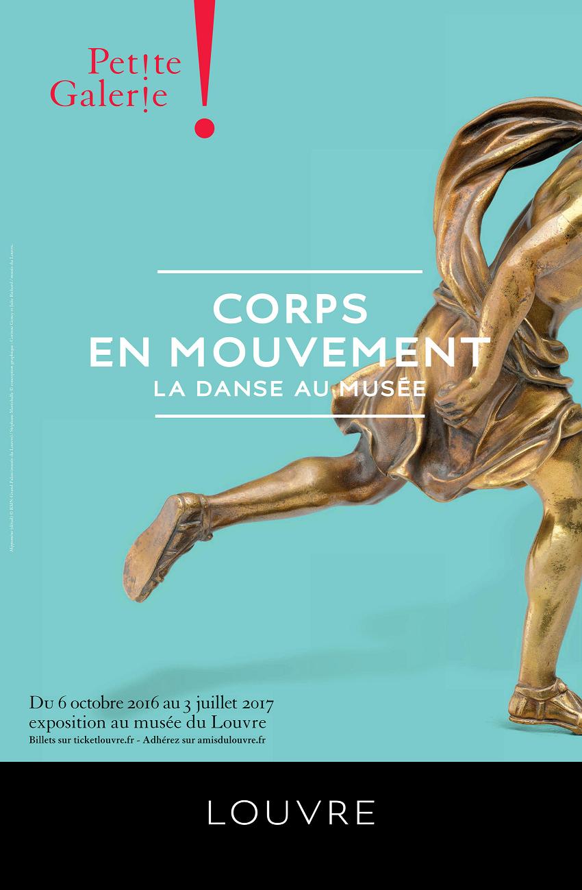Affiche Corps en mouvement Petite Galerie du Louvre